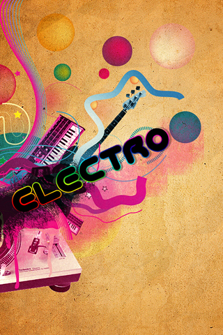 Electro Abstract Music iPhone Wallpaper