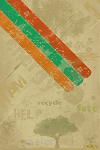 Abstract Recycle iPhone Wallpaper