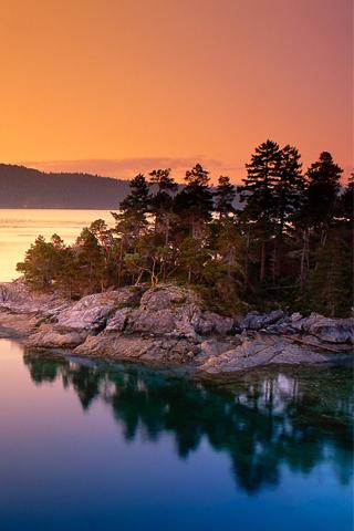 Calm Lake iPhone Wallpaper