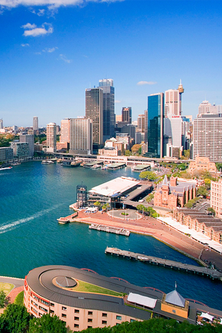 Downtown Sydney Australia iPhone Wallpaper