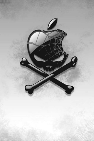 Cracked Apple Skull iPhone Wallpaper | iDesign * iPhone