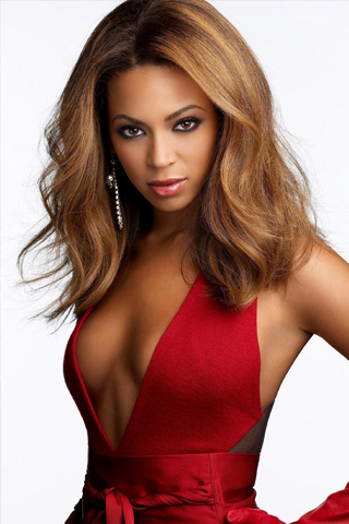 Beyonce Knowles in Red iPhone Wallpaper