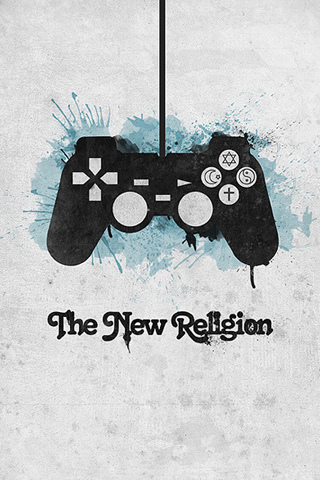 The New Religion - Playstation iPhone Wallpaper