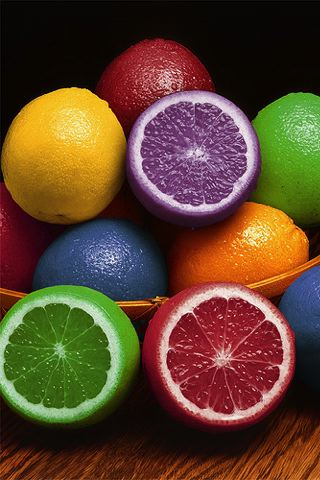 Colorful Lemons iPhone Wallpaper