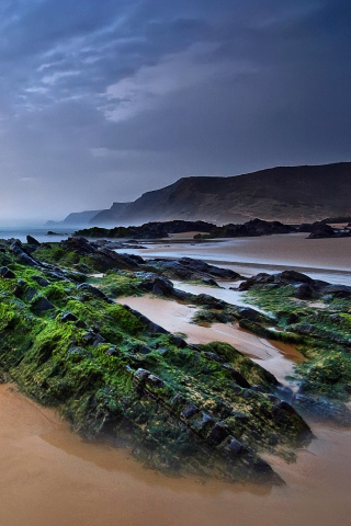 Beach Rocks iPhone Wallpaper