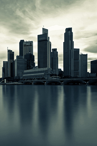 City Skyline iPhone Wallpaper