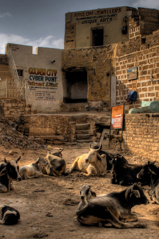Golden City - Cyber Point iPhone Wallpaper