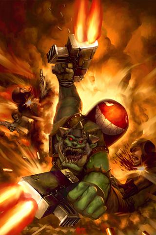 Warhammer - Kamikaze Orc iPhone Wallpaper