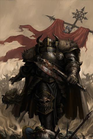 Warhammer Dark Knight IPhone Wallpaper
