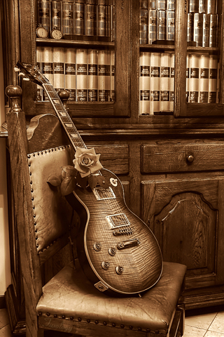 Gibson Les Paul HDRI iPhone Wallpaper
