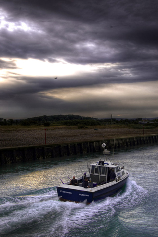 Fishing Boat iPhone Wallpaper