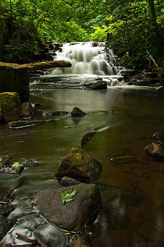 Hidden Silky Waterfall iPhone Wallpaper