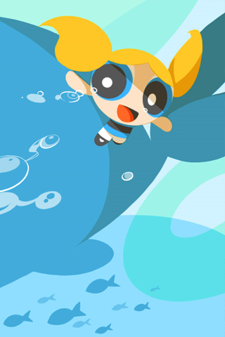 Powerpuff Girls Bubbles Iphone Wallpaper Idesign Iphone