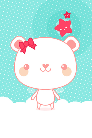 Cute Bear Pink iPhone Wallpaper