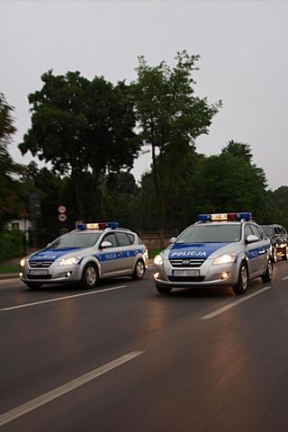 Foreign Police Cars iPhone Wallpaper