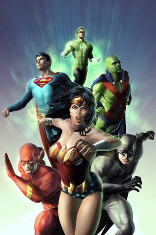 The DC Crew iPhone Wallpaper