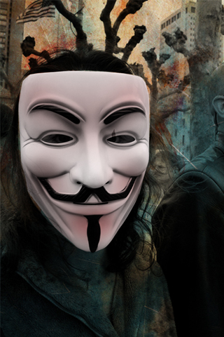 Vendetta Mask iPhone Wallpaper