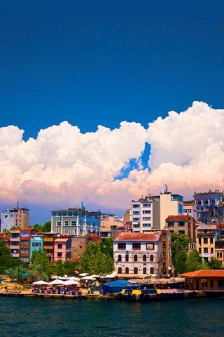 Vibrant City iPhone Wallpaper