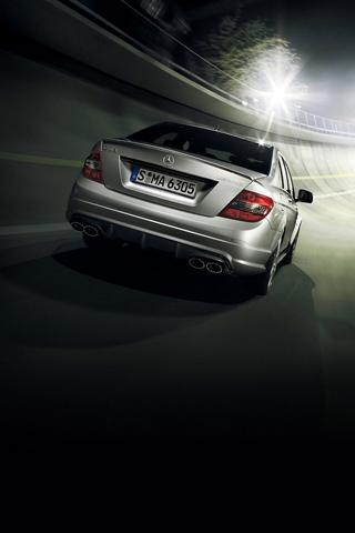 Mercedes Rear iPhone Wallpaper