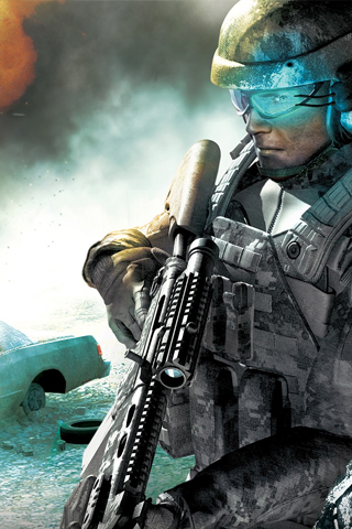 3D Military Soldier iPhone Wallpaper