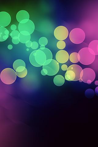 Abstract Light Spots iPhone Wallpaper