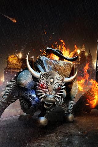 Raging Bull iPhone Wallpaper