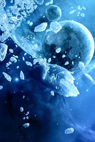 Deep Blue Space iPhone Wallpaper