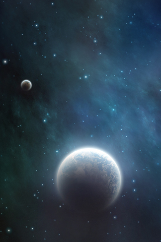 Distant Planets iPhone Wallpaper