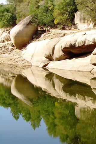 Reflective Rocks iPhone Wallpaper