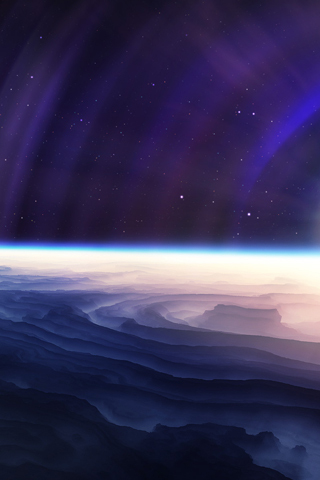 Abstract Outer Space iPhone Wallpaper