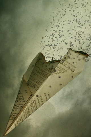 Abstract Paper Airplane iPhone Wallpaper