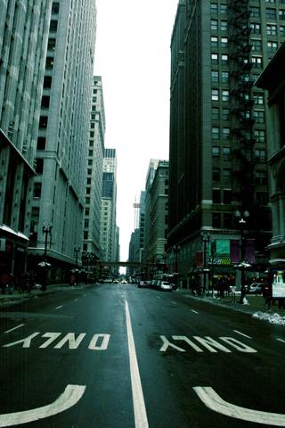City Streets iPhone Wallpaper