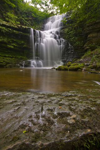 Secluded Waterfall iPhone Wallpaper