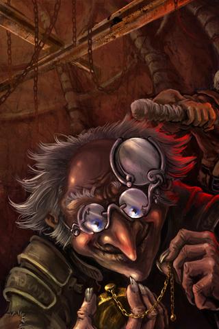 Evil Old Man iPhone Wallpaper