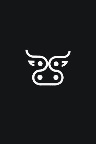 Abstract Cow Logo iPhone Wallpaper