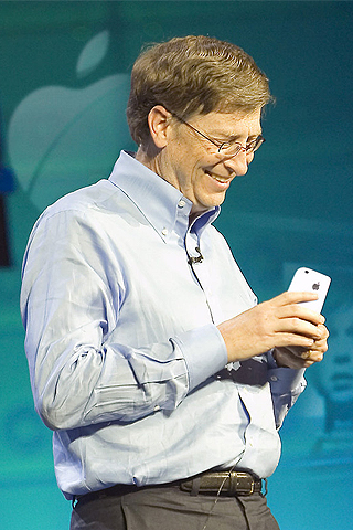Bill Gates x iPhone iPhone Wallpaper