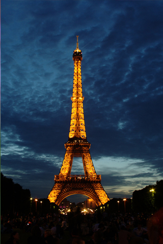 Eiffel Tower At Night Iphone Wallpaper Idesign Iphone
