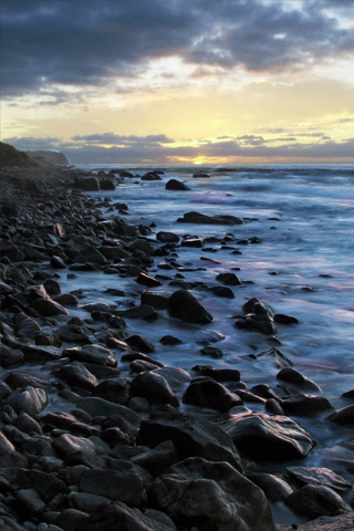 Rocky Shore iPhone Wallpaper
