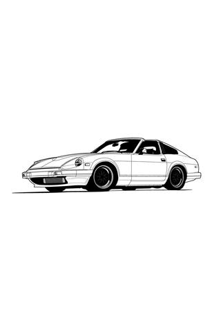 White Car Vector iPhone Wallpaper