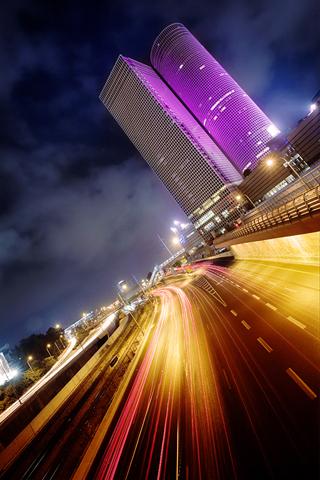 City Lights iPhone Wallpaper