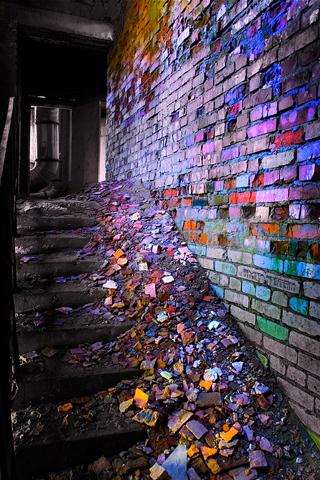 Colorful Bricks iPhone Wallpaper