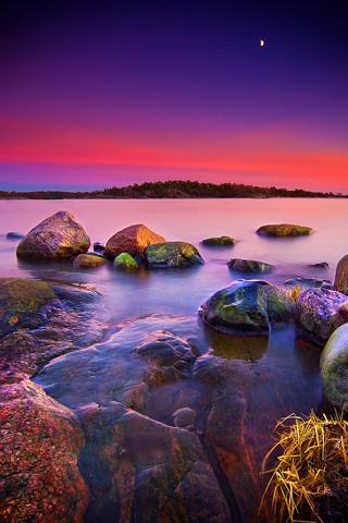 Colorful Shore iPhone Wallpaper