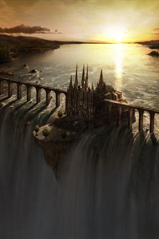 Castle Dam iPhone Wallpaper