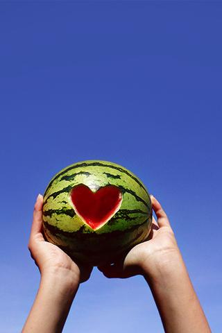 Watermellon Love iPhone Wallpaper