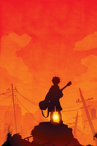 Musician Silhouette iPhone Wallpaper