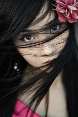 Asian Beauty iPhone Wallpaper
