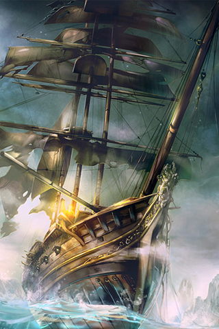 pirate ship iphone wallpaper tweet cartoons paintings pirate ship