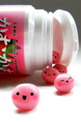 Happy Gum Balls iPhone Wallpaper