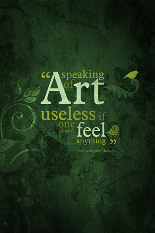 Feel Art iPhone Wallpaper