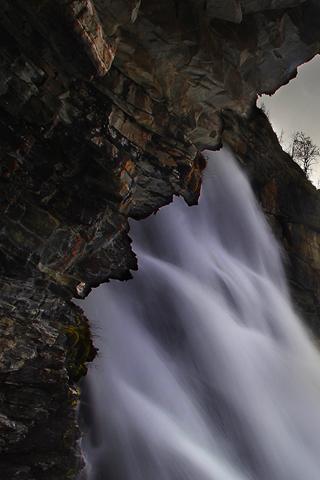 Rocky Waterfall iPhone Wallpaper